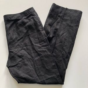 J. Jill Linen Black Genuine Fit At Waist 18T NWT